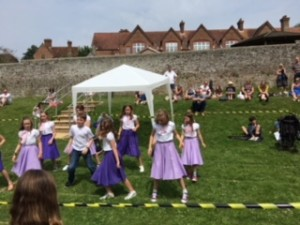 Summer fair dancers